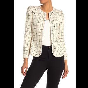 Rebecca Taylor Grid Print Tweed Jacket
